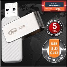 USB 3.0 32GB Team Group INC C143 (Trắng) Tốc độ cao – Hãng phân phối chính thức