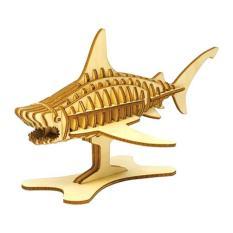 Lắp ghép gỗ 3D hình con cá mập Shark hàng Nhật Bản không ẩm mốc