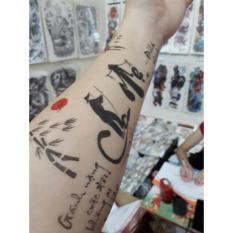 Hình xăm dán tattoo 15x21cm Cha mẹ và câu tục ngữ
