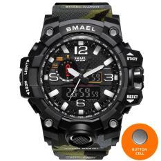 SMAEL 1545B Orange Camouflage Military Watches SMAEL Brand Watch Digital LED Wristwatch Sport 1545B Mens Watch LuxuryClock Men Military Army – intl