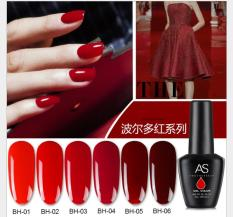 Set Sơn móng gel AS đỏ 6 màu chai 15ml