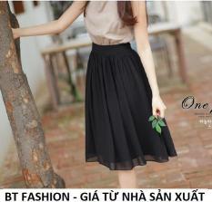 Chân Váy Xòe Voan Duyên Dáng Thời Trang Hàn Quốc – BT Fashion (VA01 – Vải Voan)