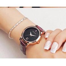 Đồng hồ nữ dây da cao cấp SANDA JAPAN MOVT – tặng kèm vòng tay xin xắn