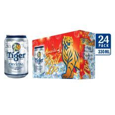 Thùng 24 lon Tiger Crystal bao bì tết