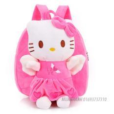 Ba lô mèo Kitty màu hồng dễ thương cho bé gái học mẫu giáo