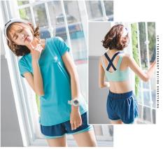 set quần áo thể thao 3 món áo phông + quần đùi +áo lót ( đồ tập gym, yoga ) hàng nhập khẩu