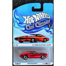 ô tô mô hình tỉ lệ 1:64 Hot Wheels Cool Classics '67 Ford Mustang Coupe Spectrafrost ( Màu Đỏ )