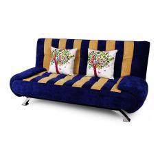 Sofa giường Juno Sofa Streaky LDS05664-19 180 x 110 cm (Xanh tím than) + 2 gối trang trí trị giá 300.000Đ