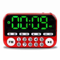 [Miễn phí ship] Đài radio đa năng hỗ trợ USB và thẻ nhớ, kết hợp đồng hồ báo thức C-866