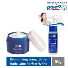 Kem dưỡng trắng tối ưu Hada Labo Perfect White Cream 50g + Tặng Dung dịch Hada Labo 40ml