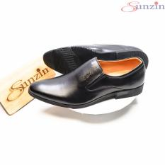[Nhập ELMAR31 giảm 10% tối đa 200k đơn từ 99k]Sunzin.HCM Free từ 99k-Giày DA BÒ THẬT tăng chiều cao 6cm DN9210 – Kiểu Giày công sở không dây đứng đắn cho nam giới (model 2018) màu đen v / giày nam / già-SZ10179