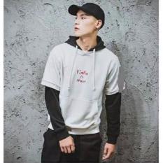 Áo khoác nam hoodie phối kiểu phong cách Hàn Quốc