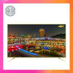 Smart Tivi Led Asanzo 50 inch Ultra HD 4K – Model 50AU5900, 50AU6000 (Viền Vàng Nhạt) Tích hợp DVB-T2, Wifi