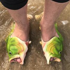 dép cá chép màu xanh có sẵn