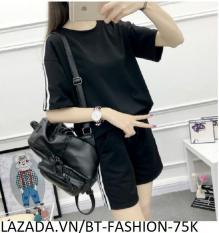 Đồ Bộ Áo Thun Nữ + Quần Đùi Sọt Thun Nữ Thể Thao, Ở Nhà, Đồ Ngủ Thời Trang Hàn Quốc Mới – BT Fashion (ĐN002)
