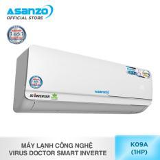 Máy lạnh công nghệ Virus Doctor Smart Inverter Asanzo K09A (1 HP)