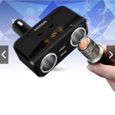 Bộ chia tẩu sạc xe hơi cao cấp hàng hiệu HYUNDAI 2 tẩu – 2 cổng USB