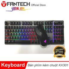 Combo bàn phím + chuột Macro Fantech KX301