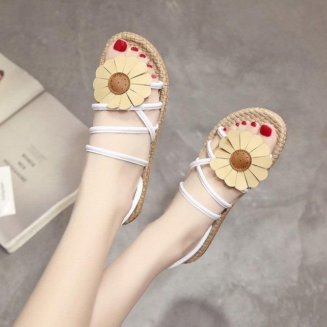 Giày Sandal Nữ đính hoa dạo biển – XS0488