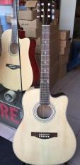 Đàn guitar Acoustic DVE90 + bao da+phím+lục giác
