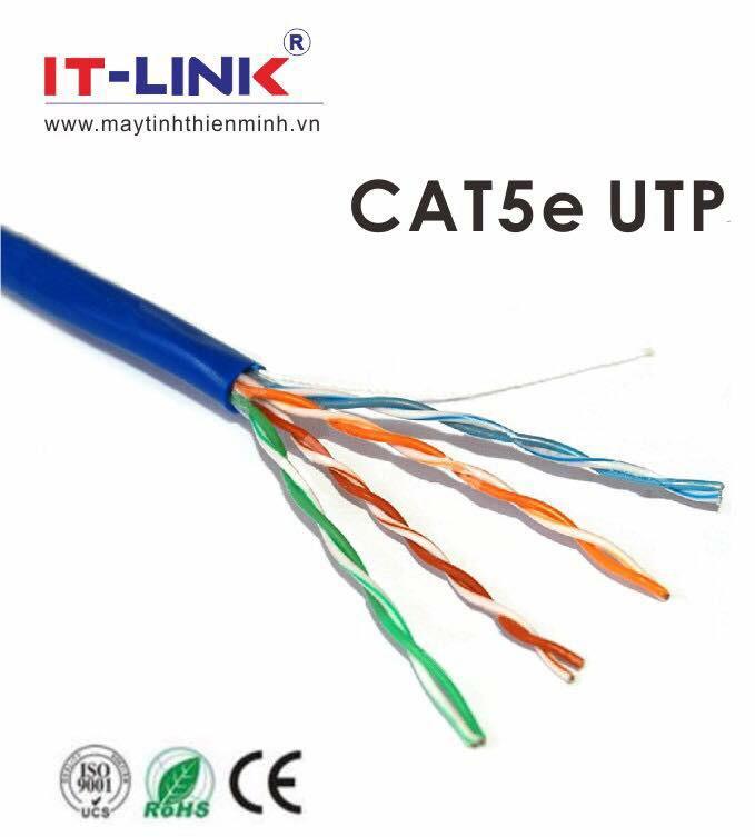 Dây cáp mạng CAT5E UTP bấm sẵn 2 đầu 15 mét màu xanh