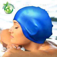 Nón bơi, mũ bơi TRÙM TAI thời trang, chất liệu SILICONE mềm mại an toàn cao cấp – BlingBling