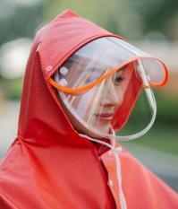 Áo mưa phản quang có kính che mặt 1 đầu