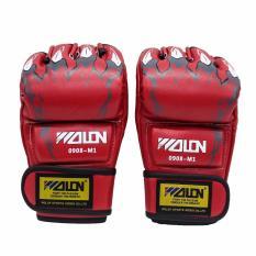 Găng hở ngón MMA, boxing Walon (đỏ)