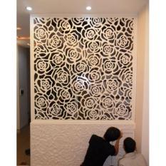 Vách ngăn 8MM Không phun sơn Màu sắc: trắng ngà tự nhiên Viền khung nhôm/gỗ nhựa-viền 24mm Chất liệu: gỗ nhựa- PVC Cắt hoa văn theo yêu cầu Tứ 2m2 trở lên giá 930.000/m2