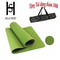 Thảm Tập TPE Yoga Đúc 1 Lớp 6mm Cao Cấp HS ( Tặng Túi + Dây Buộc) – Xanh Lá