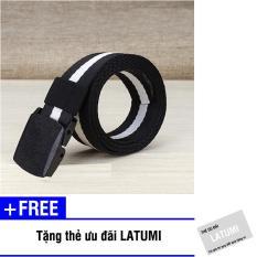 Thắt lưng vải bố đầu khóa nhựa Latumi S1691 + Tặng kèm thẻ ưu đãi Latumi