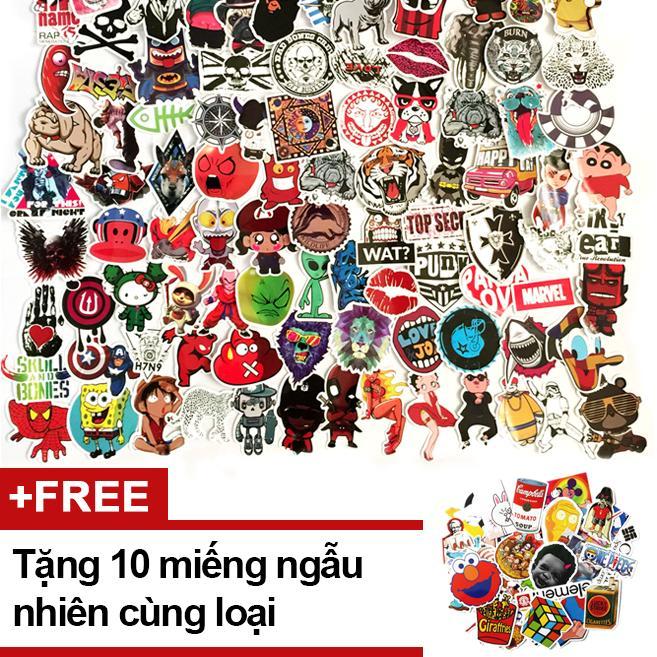 Set 50 Sticker miếng dán ngẫu nhiên – Tặng thêm 10 miếng Đang Bán Tại Mini Baby Shop