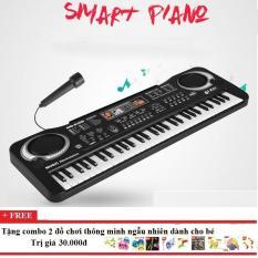 Đàn piano 61 phím kèm micro hàng đẹp Đàn organ Đàn piano cho bé