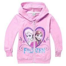 Áo khoác bé gái hình Elsa và Anna dễ thương 23-38 kg
