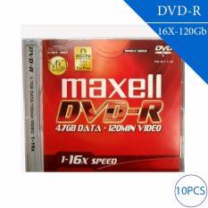 Đĩa trắng DVD-R 4.7GB 120min 1x-16X MAXELL (10 chiếc – 1 lốc)