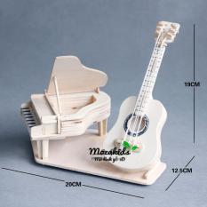 Đồ chơi lắp ráp gỗ 3D Mô hình Guitar Piano