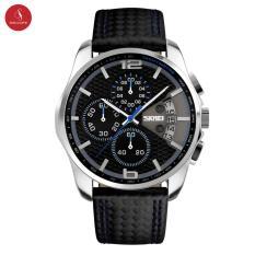 Đồng hồ nam SKMEI 9106 cao cấp 46mm (Xanh đen) + Tặng hộp đựng đồng hồ thời trang & Pin