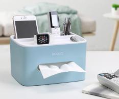 Hộp đựng giấy ăn kèm khay để điều khiển, điện thoại ECOCO