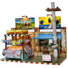 Mô Hình Nhà Gỗ DIY Tự Lắp Ráp Sạp Báo Sài Gòn AD01