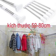 Thanh treo đa năng không cần khoan bắt vít kích thước 50-80cm