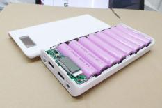 Box sạc pin 18650 dự phòng 8 khe pin (Trắng, chưa pin), thiết bị dùng để sạc pin, sạc dự phòng dùng pin sạc tiện lợi