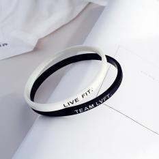 Combo vòng tay cao su live fit – team lvft 1 trắng 1 đen