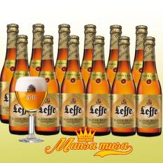 Séc12 chai bia Bỉ Leffe Blonde 6,6% chai 330ml 12 chai
