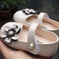 Giày da đính hoa size nhí