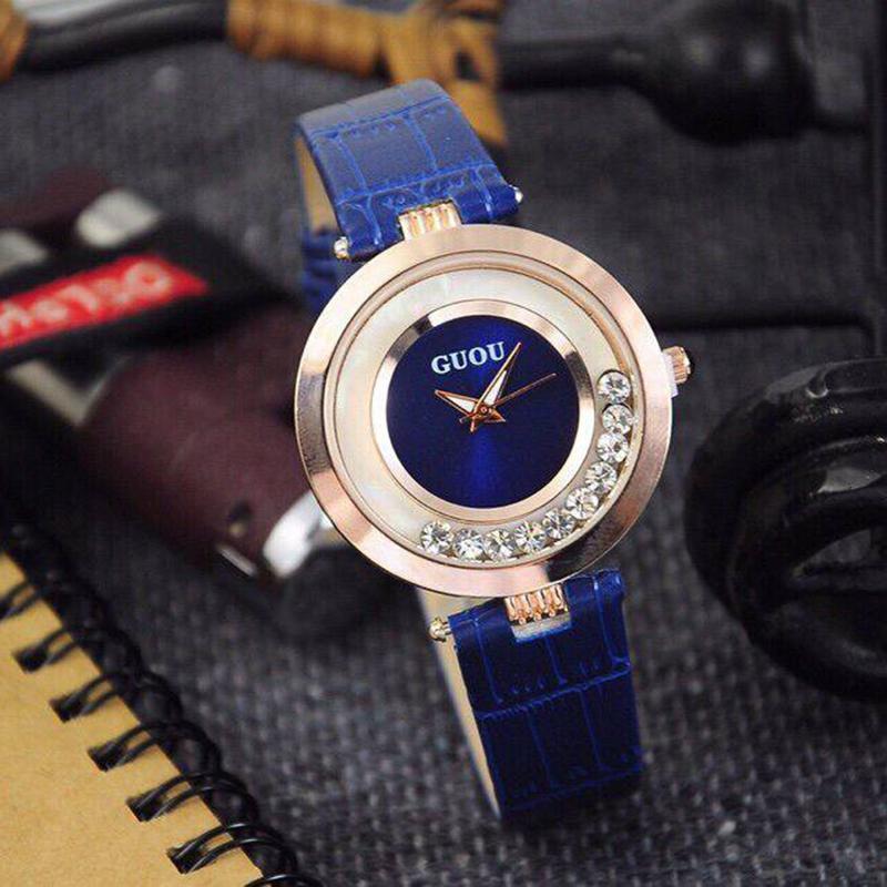 Đồng hồ nữ GUOU đá chạy thời trang GR-G0455