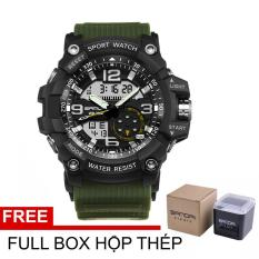 (CHỐNG NƯỚC TUYỆT ĐỐI) Đồng hồ Nam SANDA SA759 quân đội + Full Box hộp thép