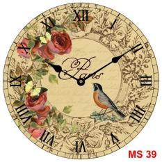 Đồng hồ treo tường phong cách cổ MS 39