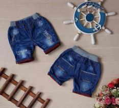 Quần Lửng Jeans Lưng Bo Thêu Chữ – QT97