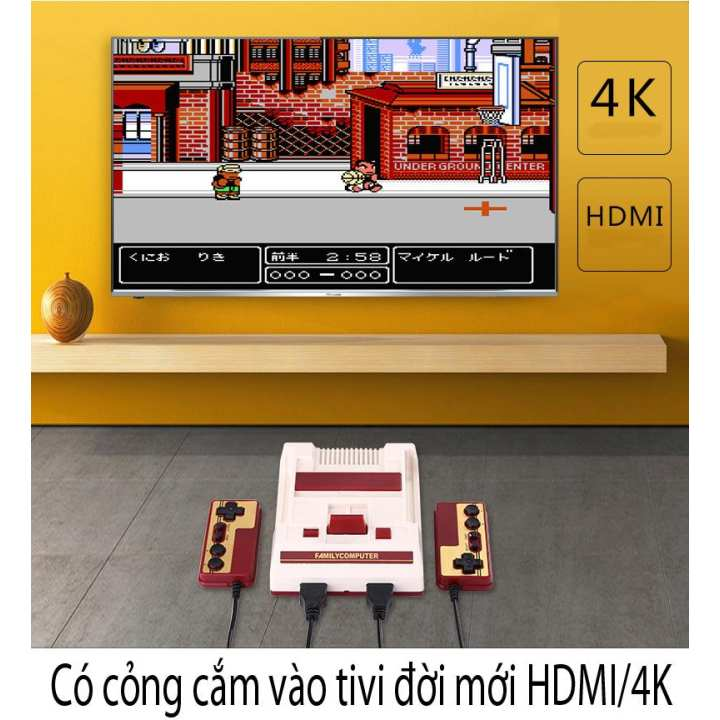 Máy game 8 bit Mini Family HDMI có 600 game trong máy (có cỏng HDMI, AV)
