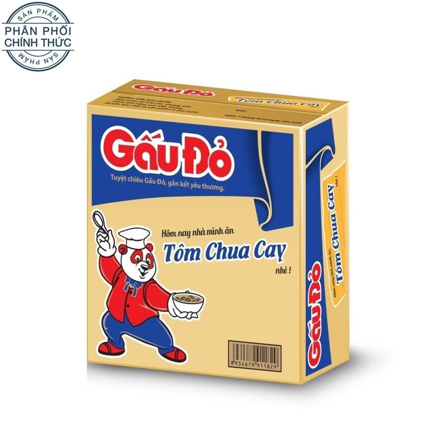 Thùng 30 gói mì Gấu Đỏ tôm chua cay 65g